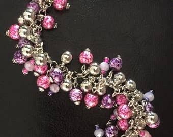 Pink/Purple/Silver ChaCha Bracelet