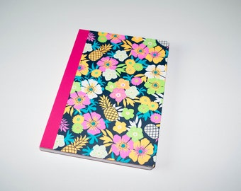 Cute hard cover notebook flowers