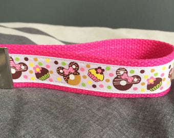 Sweet Treats Minnie Mouse Key Fob/Wristlet