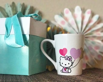 Hello Kitty Inspired Coffee Mug