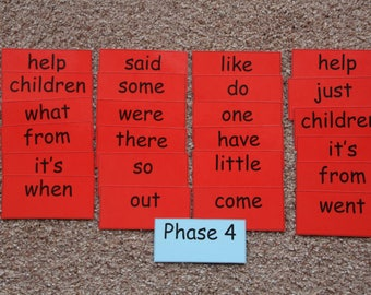 Phonics flash cards, word cards, phase 4, reading cards, reception words, year 1 words, year 2 words, early reading, letters and sounds