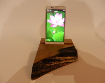 Wooden DESK STAND for smartphones/mobile