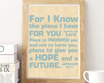 Jeremiah 29:11 For I Know the Plans...