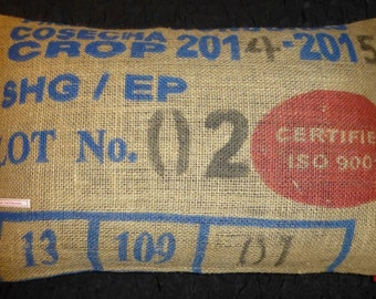 "Pillowcase original coffee bag cushion ""Certified"", 60 x 40 cm"