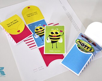 Custom Printable - Love Bee Party Gift Pouch
