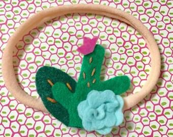 Cute cactus succulent headband baby headbands felt flowers