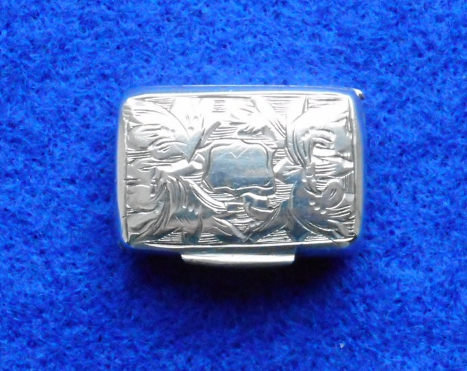1840 Sterling Silver Vinaigrette made by Francis Clark - Free shipping worldwide with Coupon Code: FREESHIP