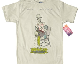 William S. Burroughs T shirt, artwork by Amine