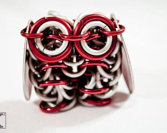 Sculpture Frost & Red Owl