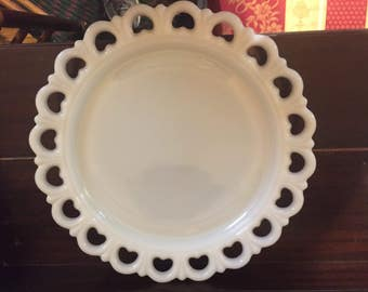 Milk glass platter