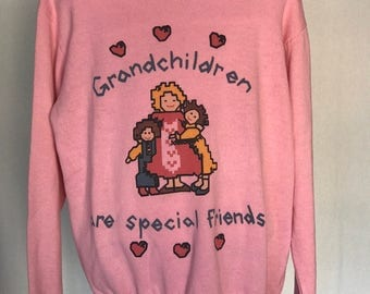 "Vintage ""Grandchildren Are Special Friends"" Sweatshirt"