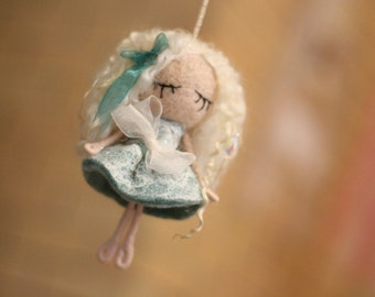 Fairy Rhoswen - Needle Felted home decoration and gift with little magic