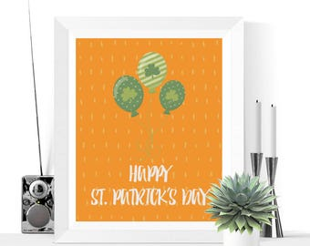 Happy St. Patrick's Day Printable | St. Patrick's Day Decoration | St. Patty's Day | Printables | St. Patty's Day Decorations