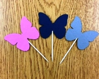 Butterfly cupcake toppers, butterfly party, butterfly