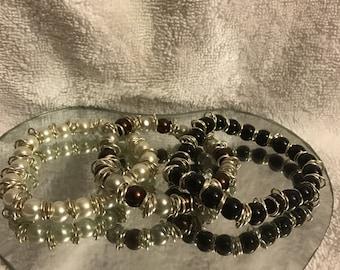 Bead Pearl Sterling Silver Bracelets Anklet
