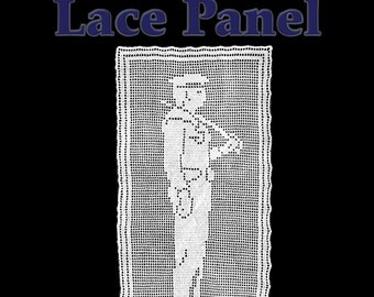 Sailor Boy Lace Panel Filet Crochet Pattern