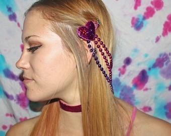 Pink Valentine headpiece