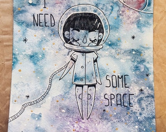 i need some space - illustration
