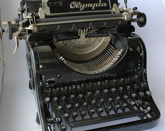 Antique typewriter Olympia Mod8, Vintage typewriter Olympia, Old typewriter Olympia, typewriter, Olympia Mod 8