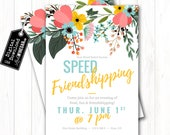 Speed Friendshipping Invite, LDS Relief Society Invitation, LDS Stake Activity Invitation | Personalized Digital Download 4x6 or 5x7 JPG