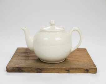 Vintage White Teapot made in England