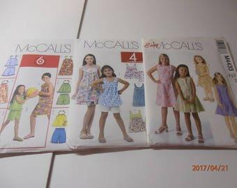 McCalls pattern girls size 7-14