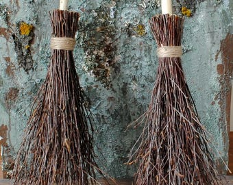 Witches Broom Birch Branches Rustic Home Decor Rustic Wedding Decor Wiccan Besom