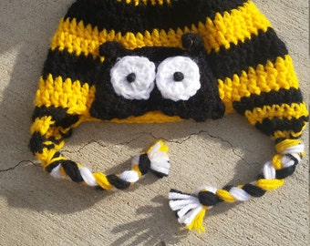 crochet bee hat child size