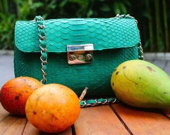 python leather handbag handmade python bag