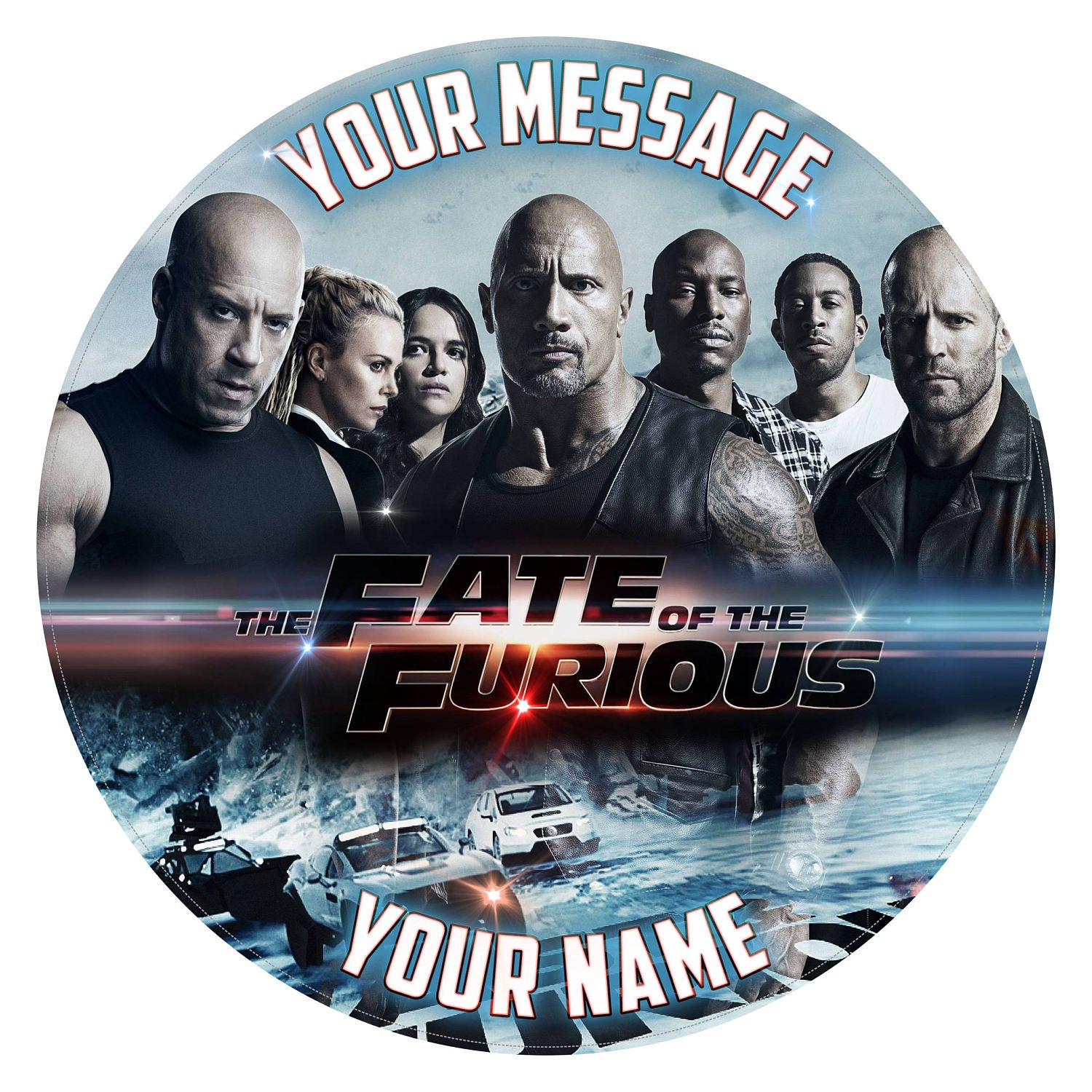Fast And Furious Movie Inspired Personalised Birthday Cake