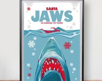 Santa Jaws (2017) Dix Fan Fiction - Cubist Illustration