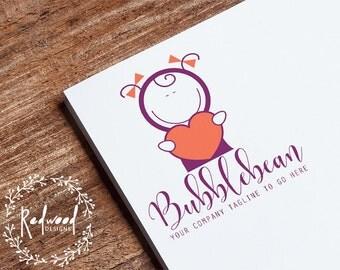 Premade Logo | Diseño de logotipo | Logo de los niños | Insignia de los cabritos | Logotipo de la diversión | Brillante logotipo | Logo de ropa | Logo de juguetes | Logo de dibujos animados | Logo para niños