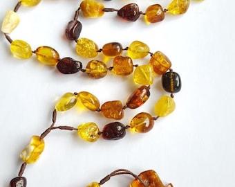 Amber Rosary Catholic Ambra Rosario Cross Necklace Beads 8 - 11 mm