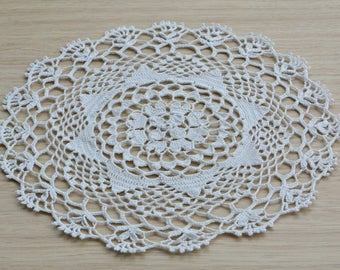 Handmade Round Crochet Napkin Doily perfect for classic and modern home  decoration