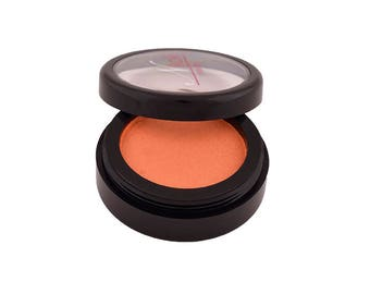 Orange pressed eyeshadow - pure, natural ingredients, organic makeup, vegan eyeshadow, cruelty free eyeshadow, non-toxic makeup