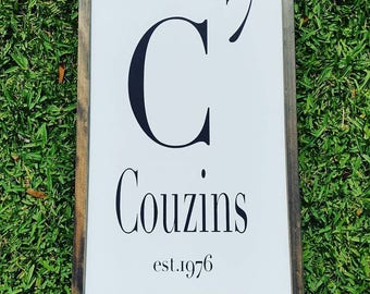 Handcrafted Wood Home Decor Sign - Family Name and Size - Custom