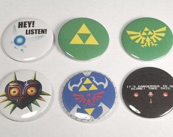 "Legend of Zelda 2.25"" Buttons"