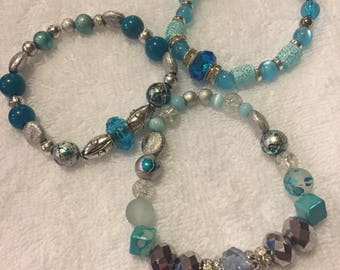 Light Blue Trio Bracelet Set