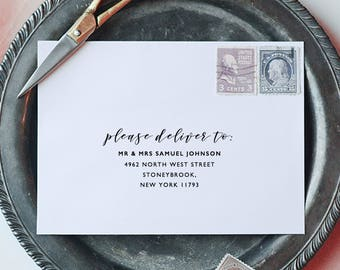 Printable Envelope Addressing Template, Wedding Addressed Envelope, Wedding Envelope Template Printable Envelope Return Address  - KPC01_106