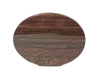 Biggs Canyon Chocolate Jasper Semiprecious Oval Calibrated Cabochon, Porcelain Polished Jewel, Semi-precious Gemstone 40x30 mm oval