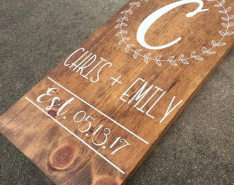Customized Initial Wedding/Couple Sign, Custom Wood Sign, Wedding Sign, Last Name Sign, First Name Sign