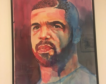 Drake Portrait - Handmade, Watercolor