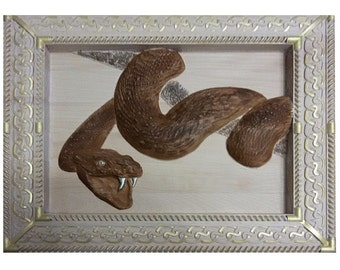 "Wall wood carving ""Snake"""