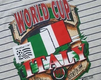 1994 World Cup Team Italy Soccer Tshirt Deadstock Brand New With Tags XL