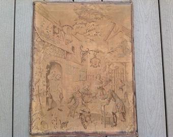 Antique Belgian Tapestry