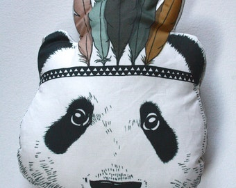 Panda bear pillow