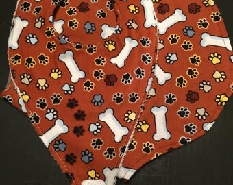 Burp Cloth and Binkie Bob set - Dog Bones