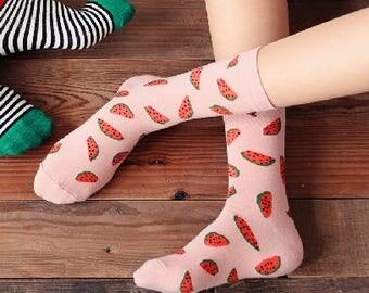 Fresh watermelon socks
