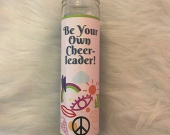 Be Your Own Cheerleader Prayer Candle