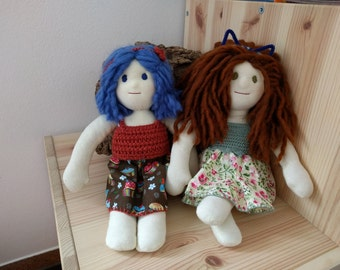 Handmade Natural Fiber Dolls-dolls handmade with natural material